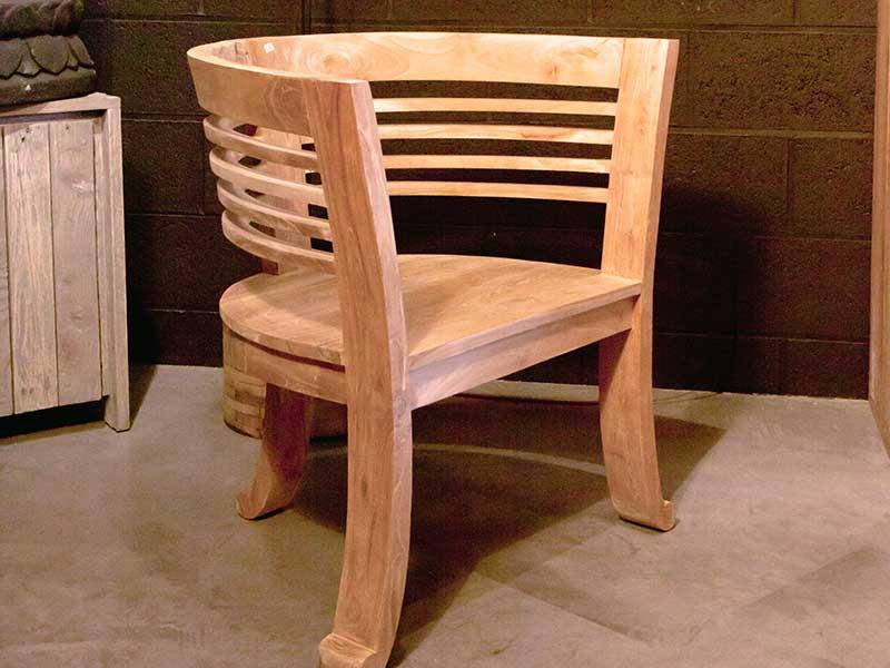 petit fauteuil teck namur
