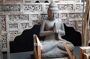 bouddha pierre jardin