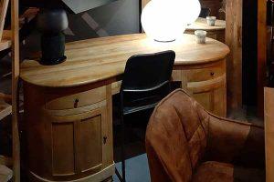 bureau 2 portes 2 tiroirs teck