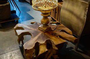 table basse racine teck