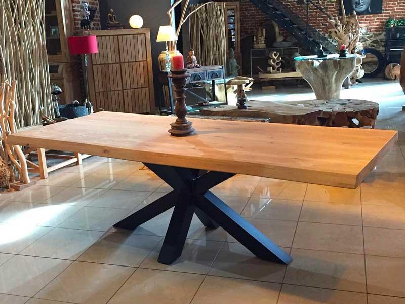 table bureau teak massif