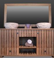 salle bain teck massif 2 vasques pierre