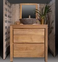 bloc teak sdb 1 lavabo