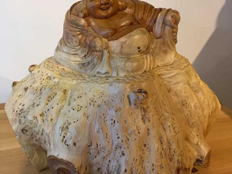 boudha-sculpte-racine-teck